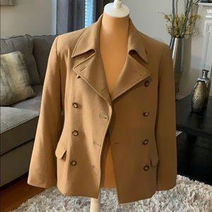 Women's Rafaella camel colored button front blazer